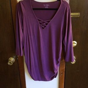 Purple maternity top